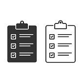 istock Clipboard, Checkmark and Checklist Vector Design. 1217799760