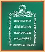 Clipboard educational royalty free vector art Blackboard