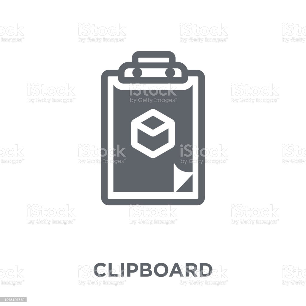 Clipboard icon from Delivery and logistic collection. vector art illustration