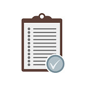 Clipboard icon vector sign and symbol isolated on white background, Clipboard logo concept