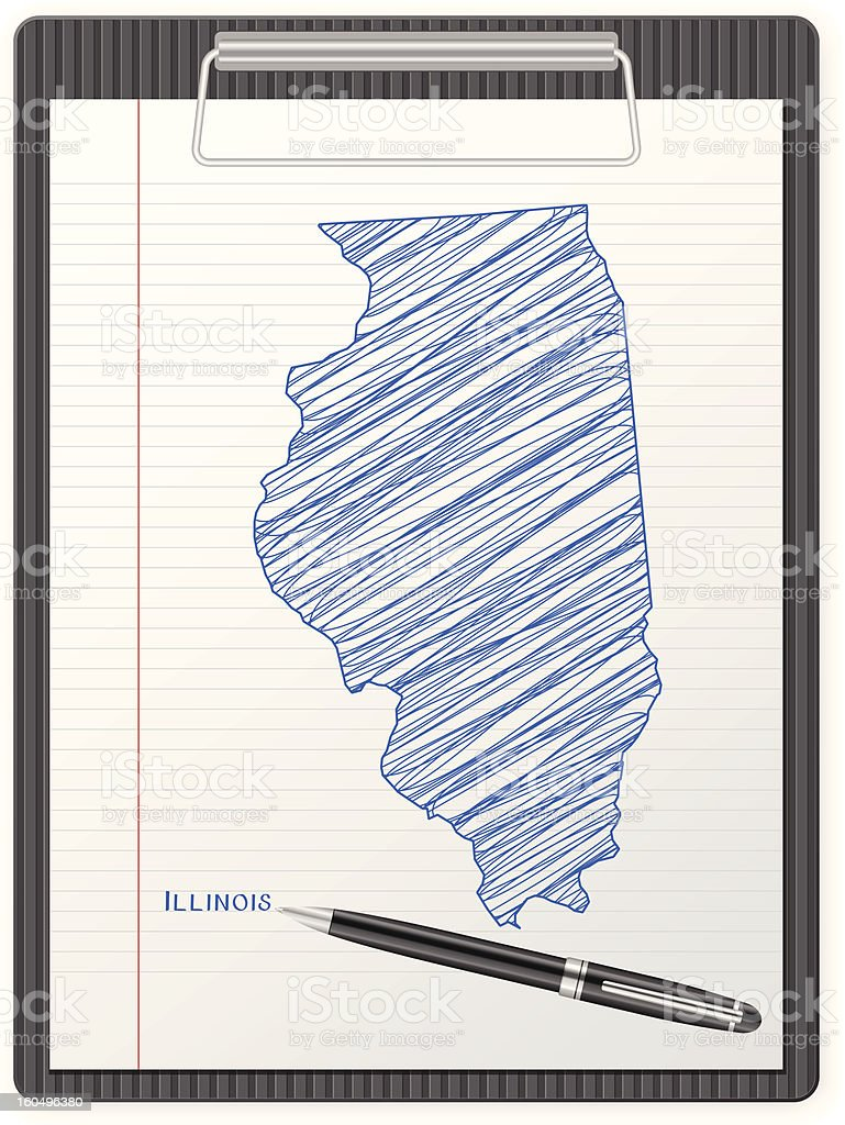clipboard Illinois map royalty-free clipboard illinois map stock vector art & more images of ballpoint pen
