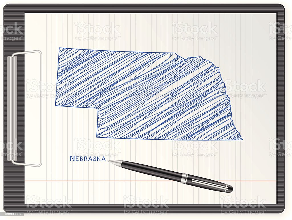 clipboard Nebraska map royalty-free clipboard nebraska map stock vector art & more images of ballpoint pen