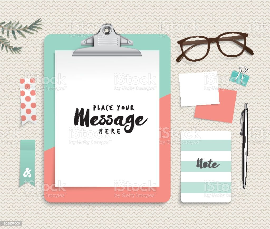 clipboard template stock vector art more images of adhesive note