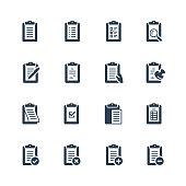 Clipboard vector icon set