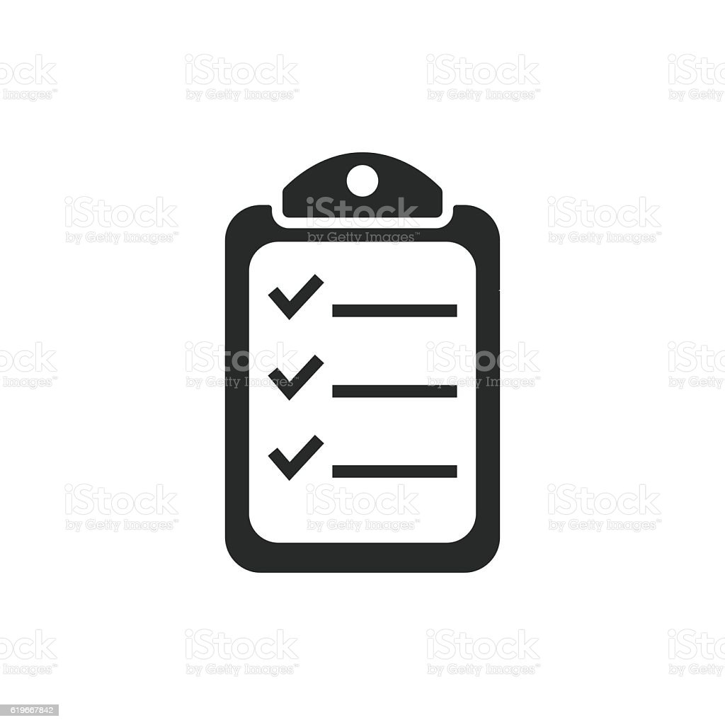 Clipboard - vector icon. vector art illustration