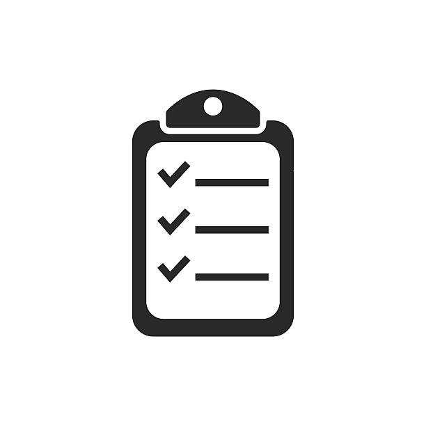 ilustraciones, imágenes clip art, dibujos animados e iconos de stock de clipboard - vector icon. - tareas domésticas
