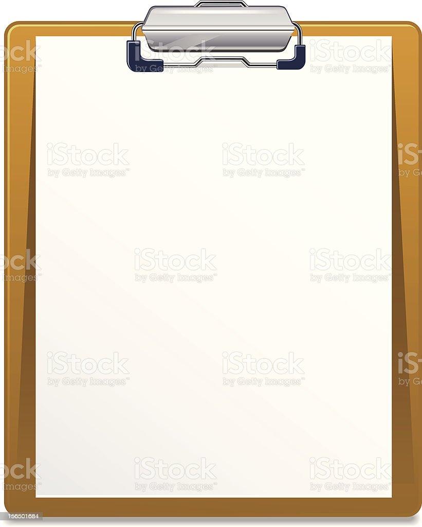 Clipboard royalty-free stock vector art