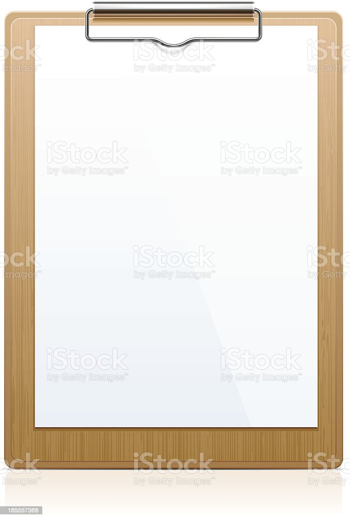 Clipboard vector art illustration