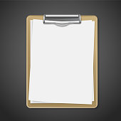 clipboard with blank paper