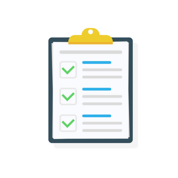 Clipboard with checklist icon. Checklist complete tasks, to-do list, survey, exam concepts. Best quality. Flat illustration of clipboard with checklist icon for web. Vector. Clipboard with checklist icon. Checklist complete tasks, to-do list, survey, exam concepts. Best quality. Flat illustration of clipboard with checklist icon for web. Vector checklist stock illustrations