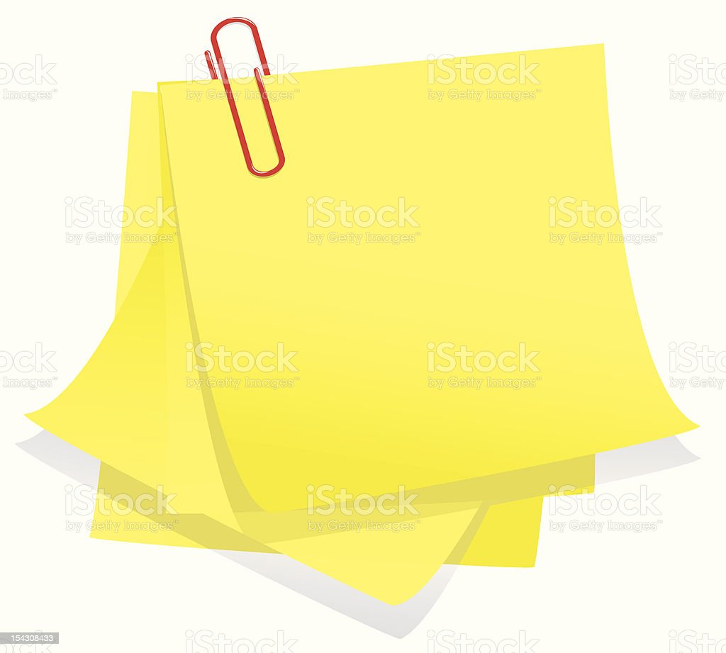 Clipped note paper royalty-free clipped note paper stock vector art & more images of adhesive note