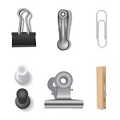 Clips set and office supplies.