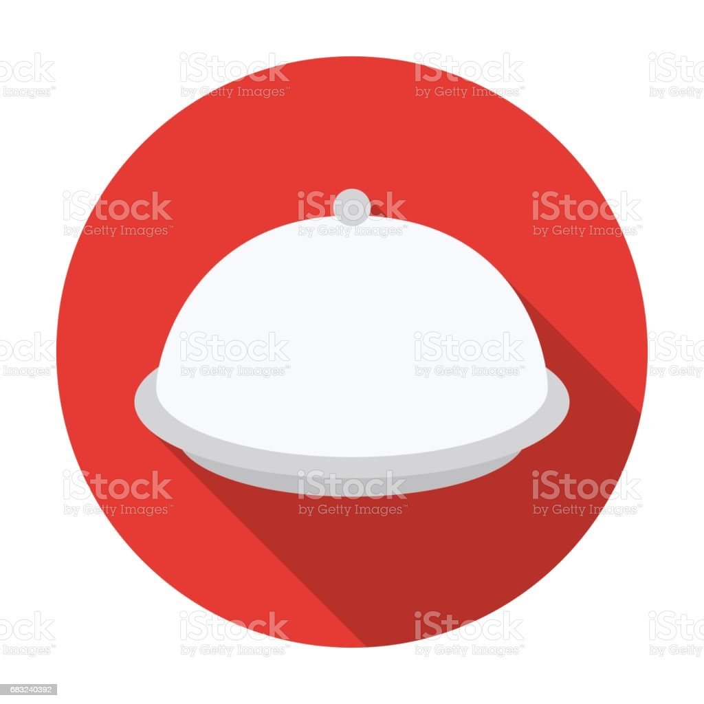 Cloche icon in flat style isolated on white background. Hotel symbol stock vector illustration. 免版稅 cloche icon in flat style isolated on white background hotel symbol stock vector illustration 向量插圖及更多 吃飯 圖片