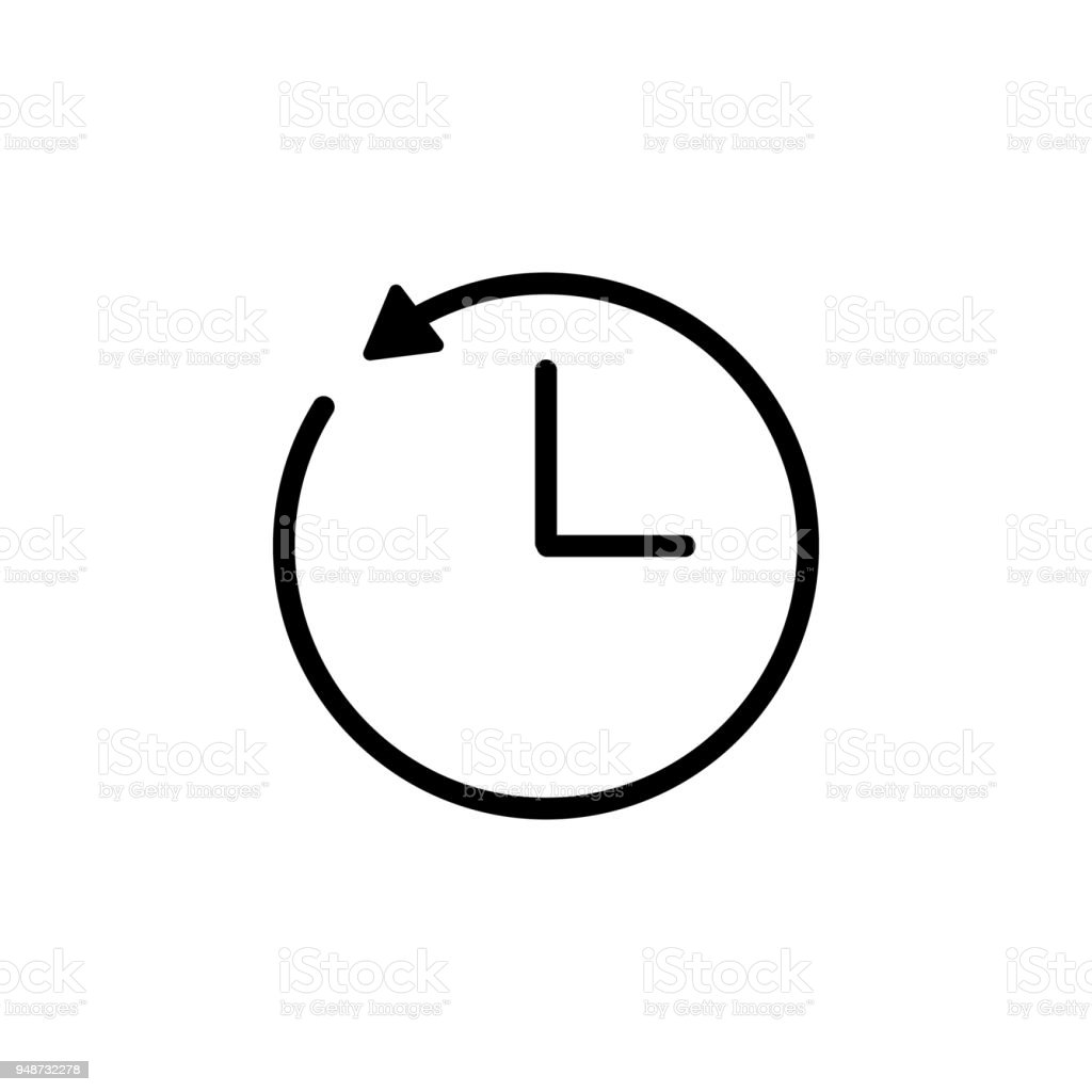Clock and circular arrow icon element of minimalistic icons for circle number shape symbol text biocorpaavc Images