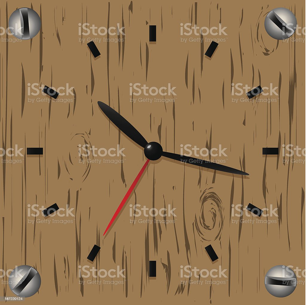 Clock background royalty-free stock vector art