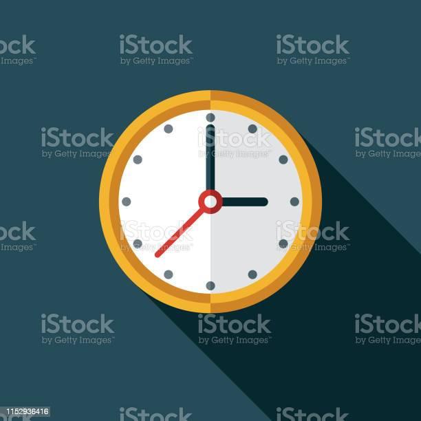 Clock Customer Service Icon Stock Vektor Art und mehr Bilder von ClipArt