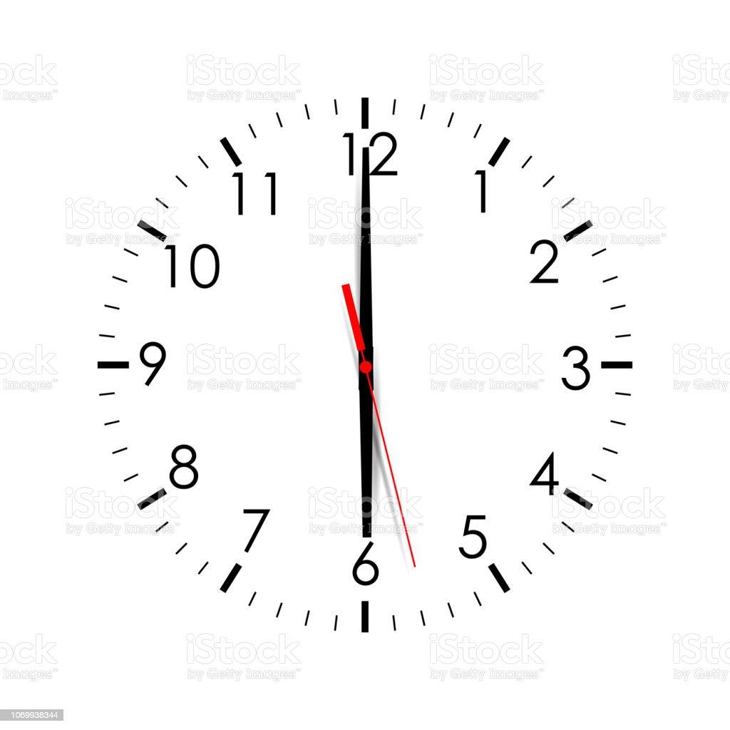 Aislado Carátula Ilustración De Más Del Sobre Vectores Muestra Blanco Y 600 Derechos Reloj Analógico Libres Fondo kNw80nXPO