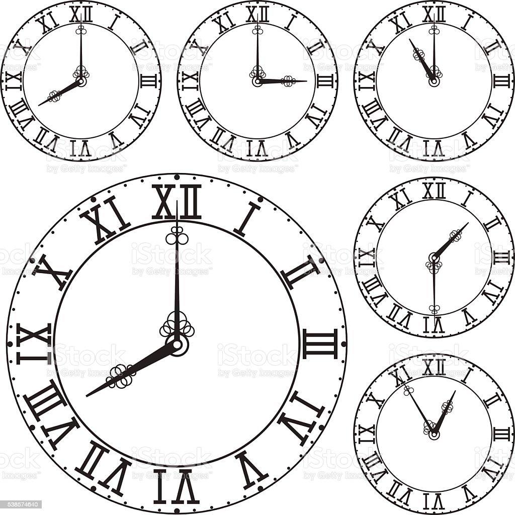 Quadrante di orologio con numeri romani immagini for Orologio numeri romani