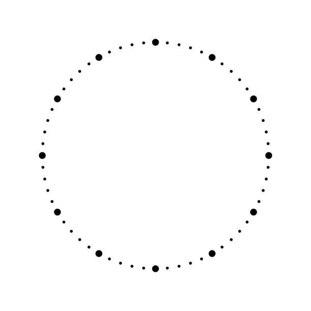ilustrações, clipart, desenhos animados e ícones de cara do relógio. marcação de hora em branco. pontos marcam minutos e horas. ilustração plana simples do vetor - segundo grau