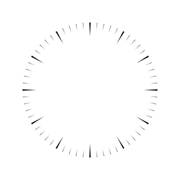 ilustrações, clipart, desenhos animados e ícones de face do relógio. dial de hora em branco. cunhas marcam horas e minutos. ilustração vetorial plana simples - segundo grau