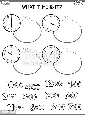 Clock Face Educational Game For Children Stock Vector Art More
