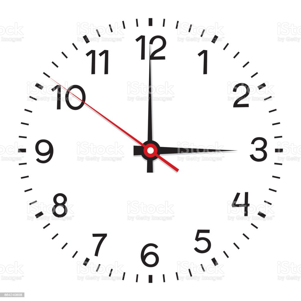 Clock face. Isolated on white background royalty-free clock face isolated on white background stock vector art & more images of business
