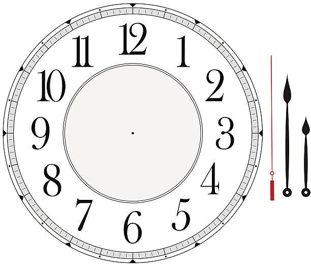 clock face - clock face stock illustrations, clip art, cartoons, & icons