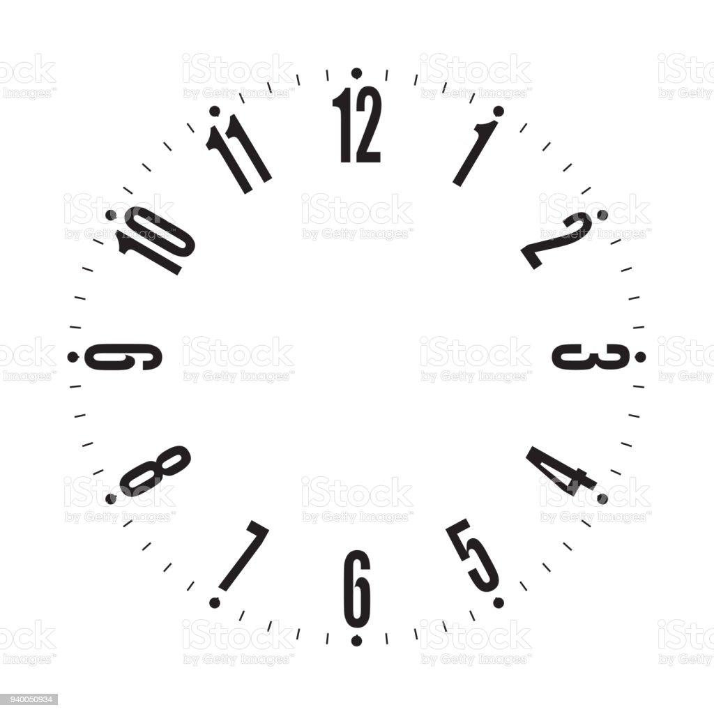時計の文字盤のベクトル図 アイコンのベクターアート素材や