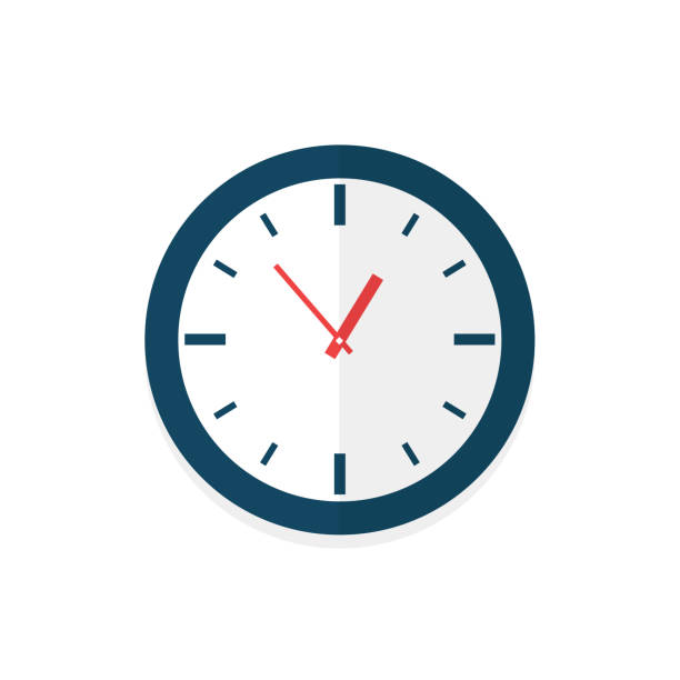 Clock face with shadow on white background. Vector illustration. Clock face with shadow on white background. Vector illustration wall clock stock illustrations