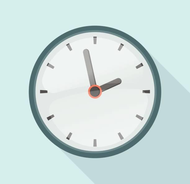 clock Flat Design clock Icon wall clock stock illustrations