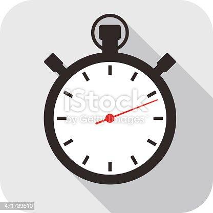 Clock flat fashion icon design, watch icon