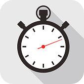 istock Clock flat fashion icon design, watch icon 471739510