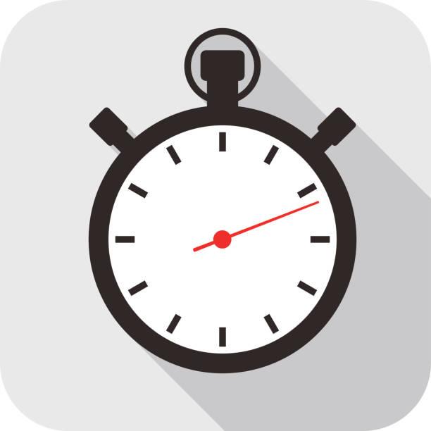 zegar płaska konstrukcja ikona mody, zobacz ikony - jeden przedmiot stock illustrations