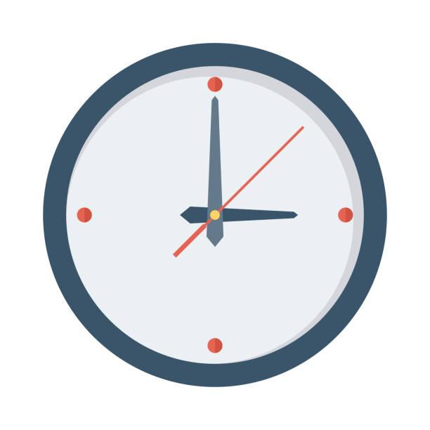 ilustraciones, imágenes clip art, dibujos animados e iconos de stock de icono de vector plano reloj - wall clock