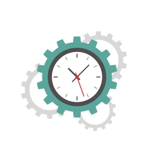 時計 歯車 イラスト素材