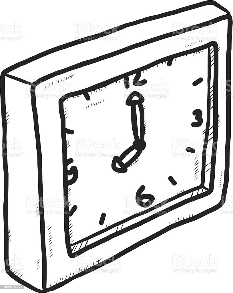 clock hand drawn royalty-free clock hand drawn stock vector art & more images of alarm clock