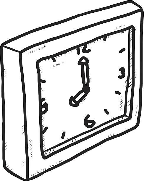 ilustrações, clipart, desenhos animados e ícones de relógio desenho à mão - segundo grau
