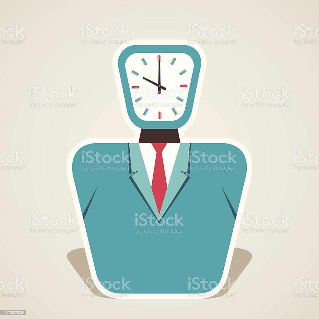 clock head royalty-free stock vector art