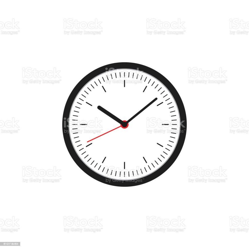 Clock icon flat design vector illustration vector art illustration