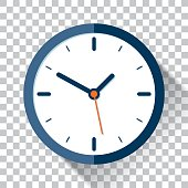 istock Clock icon in flat style, timer on a transparent background. Vector design element 684140814