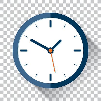 Icône De Lhorloge Dans Le Style Plat Minuterie Sur Un Fond Transparent Élément De Design Vectoriel Vecteurs libres de droits et plus d'images vectorielles de Bleu
