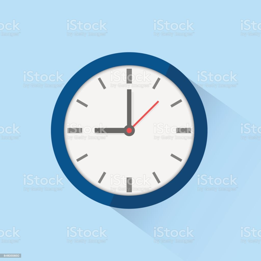 Icono reloj aislado sobre fondo. Ilustración de vector. - arte vectorial de Alarma libre de derechos