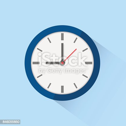 istock Clock icon isolated on background. Vector illustration. 846055850