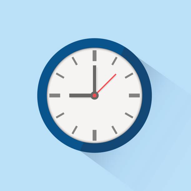 Clock icon isolated on background. Vector illustration. vector art illustration