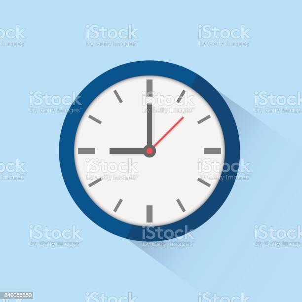Ilustración de Icono Reloj Aislado Sobre Fondo Ilustración De Vector y más Vectores Libres de Derechos de Alarma