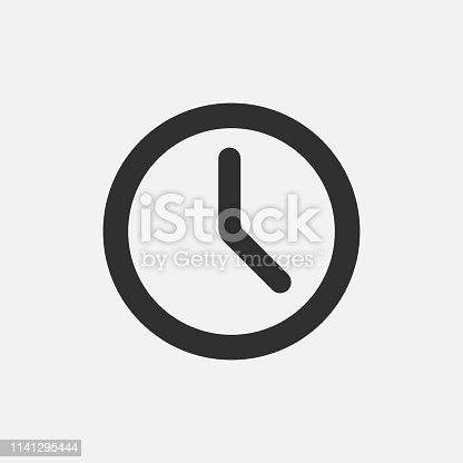 istock Clock icon isolated on white background. Vector illustration. 1141295444