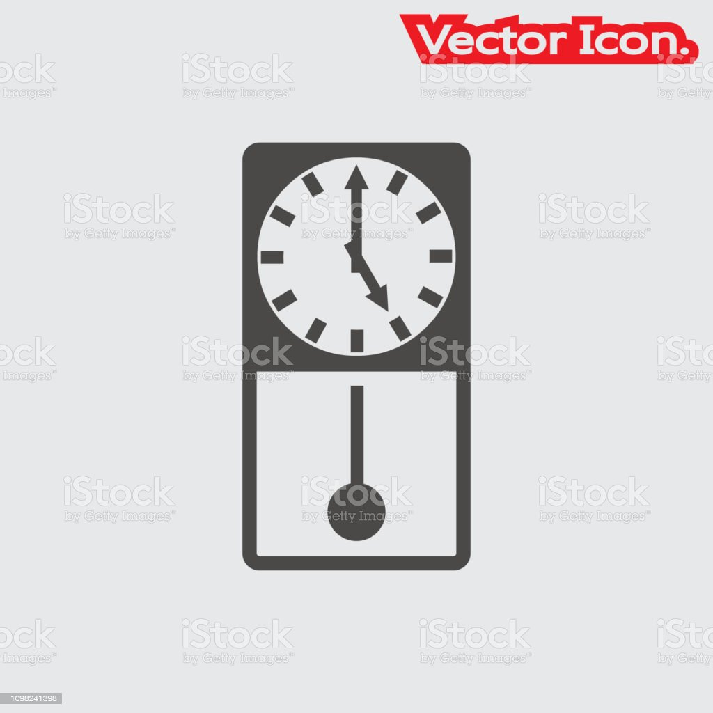 Clock Icon Isolated Sign Symbol And Flat Style For App Web
