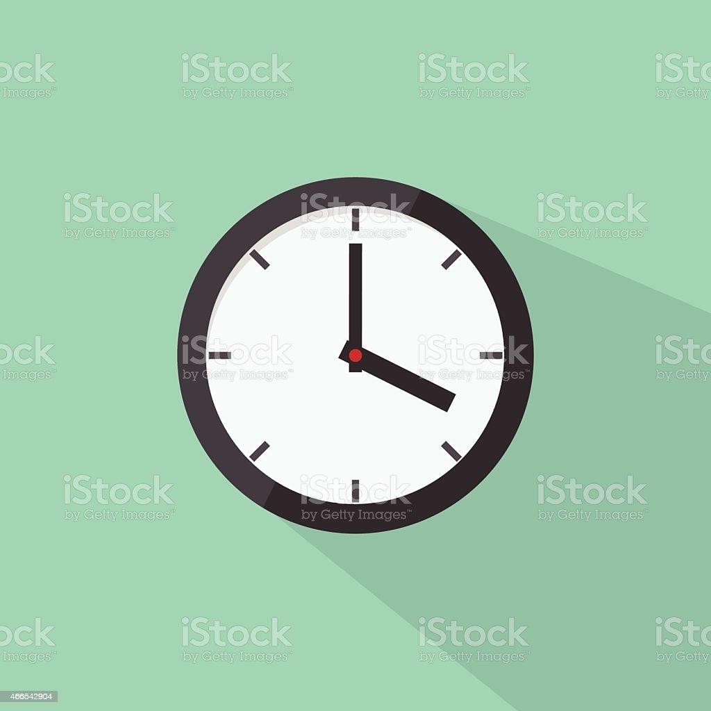 Clock icon, modern flat design style. Watch vector illustration vector art illustration