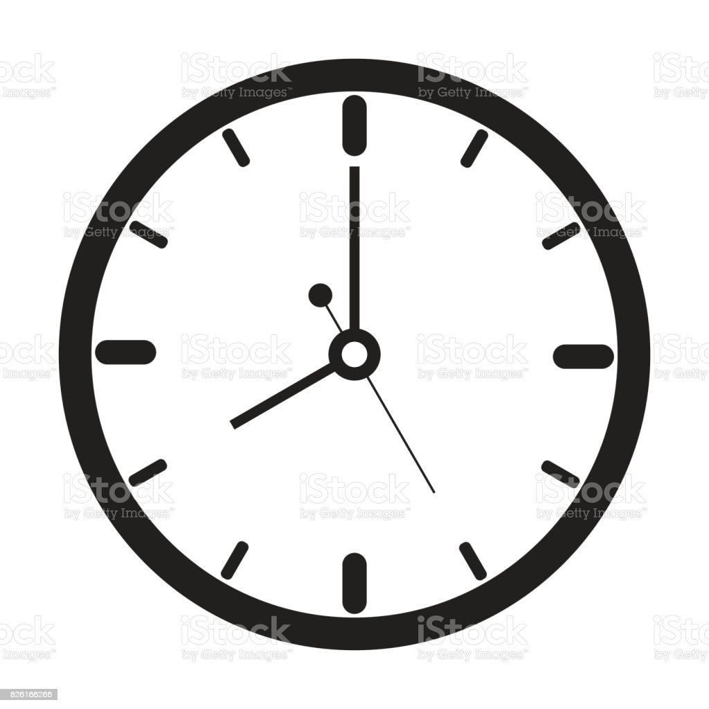 clock icon outline isolated vector stock vector art  u0026 more images of alarm 826166266