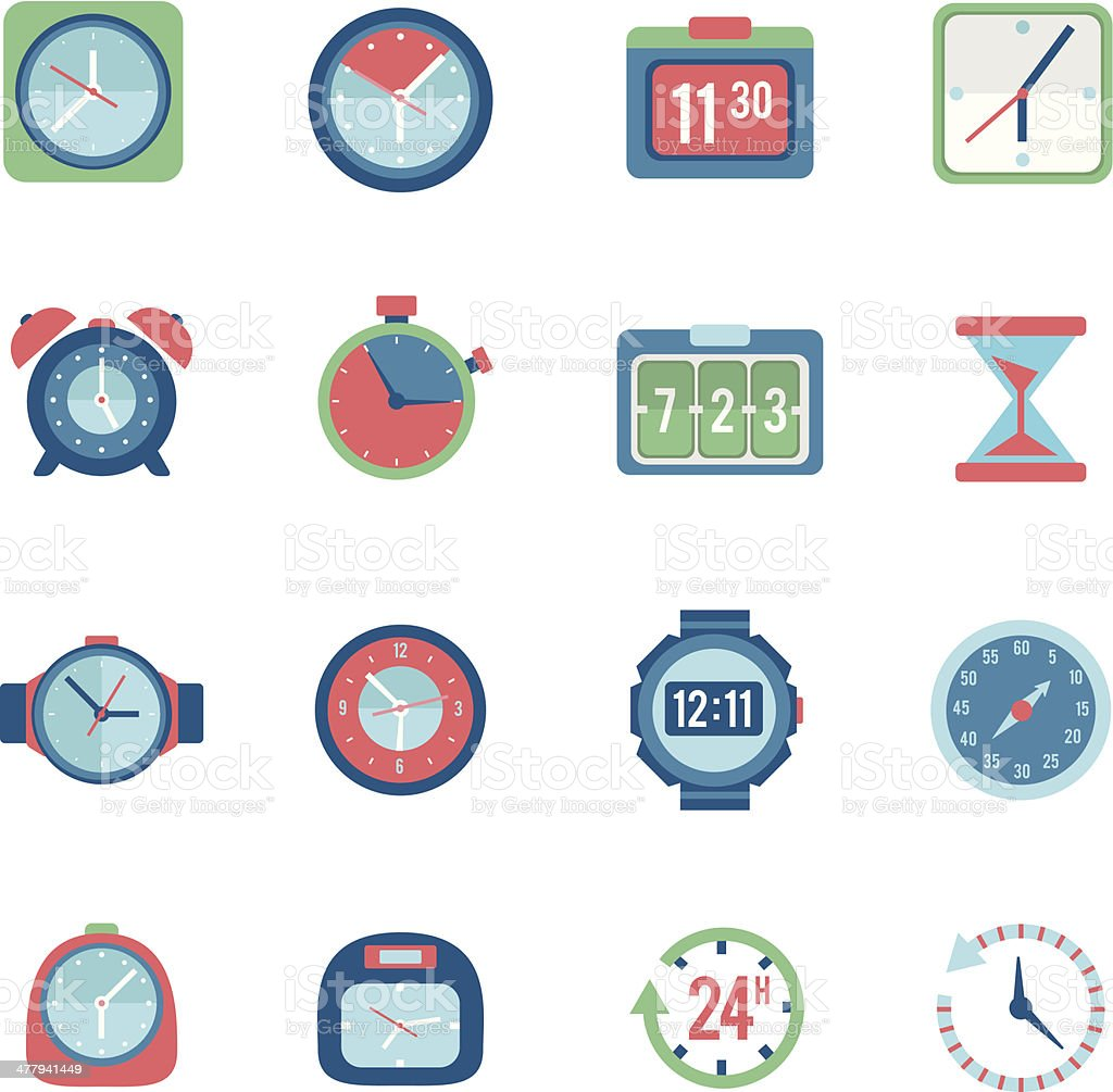Clock icon set royalty-free clock icon set stock vector art & more images of alarm clock